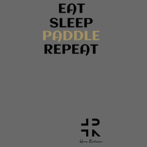 Eat Sleep Paddle Repeat - Mens Lowdown Singlet Design