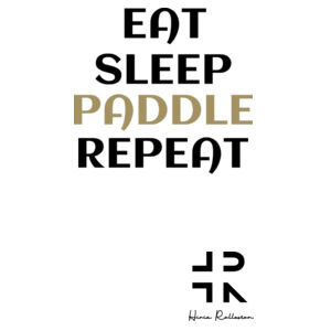 Eat Sleep Paddle Repeat - Mens Authentic Singlet Design