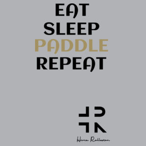 Eat Sleep Paddle Repeat - Womens Yes Racerback Singlet Design