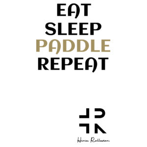 Eat Sleep Paddle Repeat - Womens Sunday Singlet Design