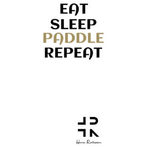 Eat Sleep Paddle Repeat - Unisex Barnard Tank Design