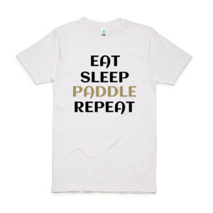 Eat Sleep Paddle Repeat - Unisex Organic Tee Thumbnail